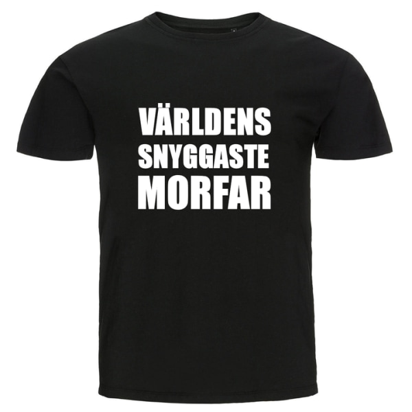 T-shirt - Världens snyggaste morfar Blå S