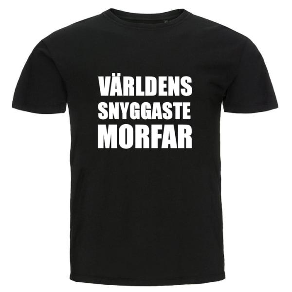 T-shirt - Världens snyggaste morfar Röd XXL
