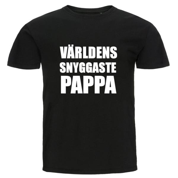 T-shirt - Världens snyggaste pappa Blå S