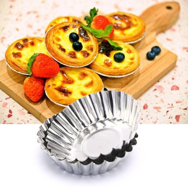 10 ST Återanvändbar bärbar geléformkakformar Äggtårta bakning