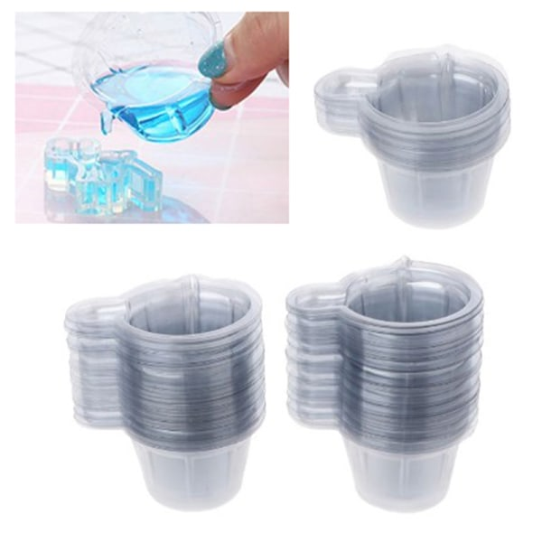 100Pcs 40ML Plastic Disposable Cups Dispenser For DIY Epoxy Res one size