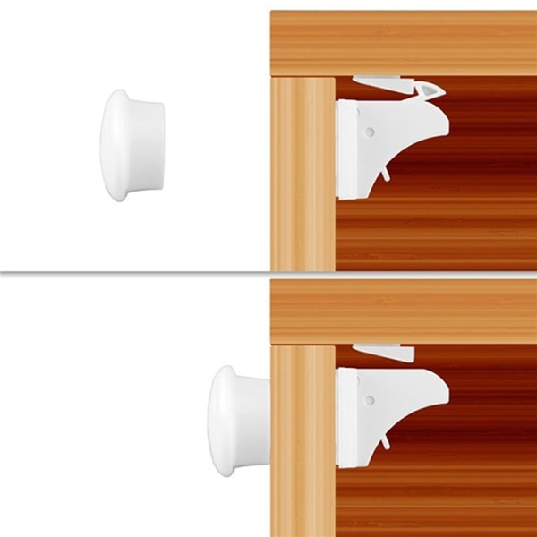 10Pcs Magnetic Cabinet Drawer Cupboard Locks Child Kids Proofin