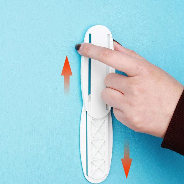 1st Väggmonterad Self-Stick Power Strip Holder Fixator Socket Ca
