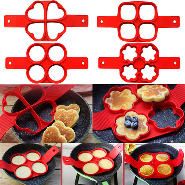 2017 Perfect Breakfast Maker Non Stick Pancake Pan Flip Egg Ome round