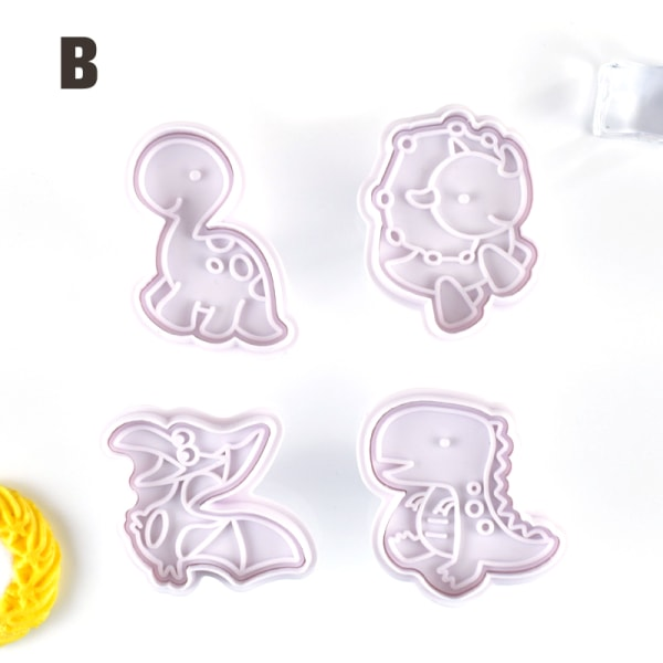 4st / set plast dekorativ kex mögel kök kaka d B