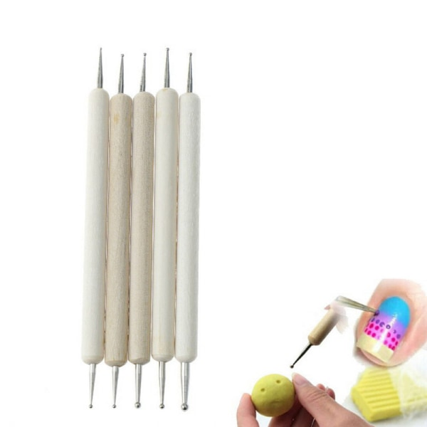 Yinew 5pcs Useful Ball Stylus Polymer Clay Pottery Ceramics Sculpting Modeling Tools