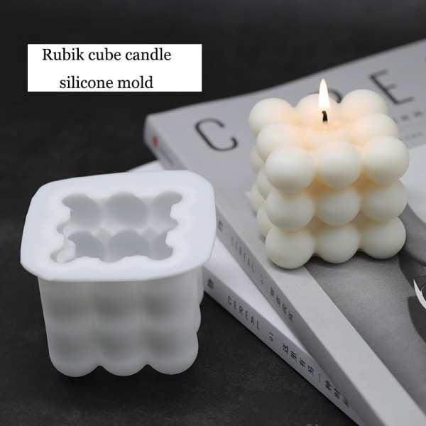 DIY Christmas Candles Mould wax Candles Plaster Candle 3d Silico