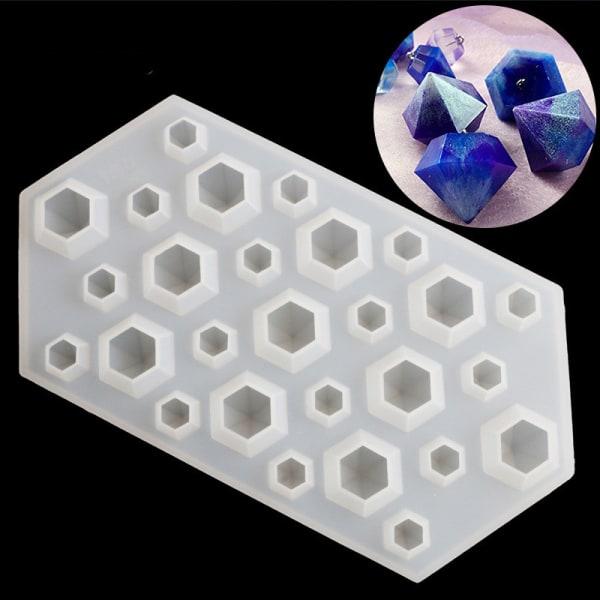 DIY diamant silikon mögel smycken hängande harts gjutning hantverk