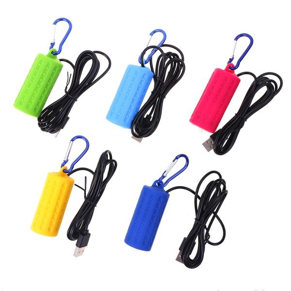 Fish Tank Accessories Portable Mini USB Aquarium Fish Tank Oxyge Green