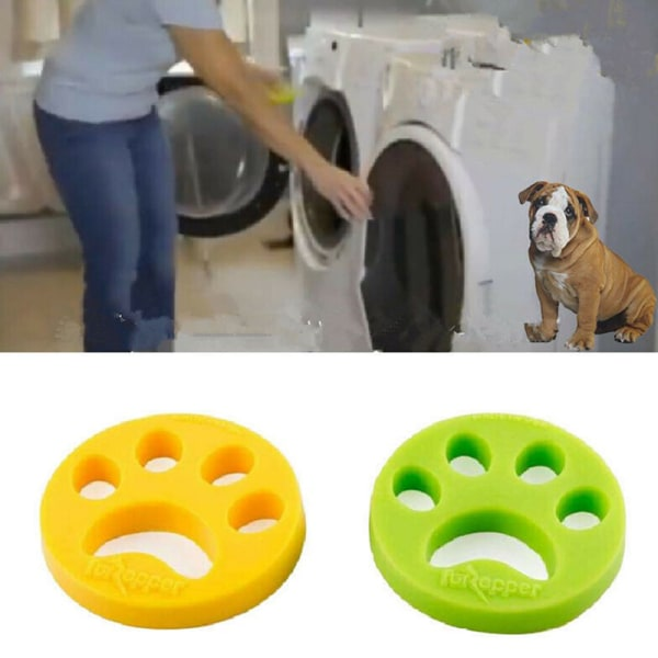 Hair Remover Brush For Laundry Pet Cat Lint Dog Hair Catcher Fo Green