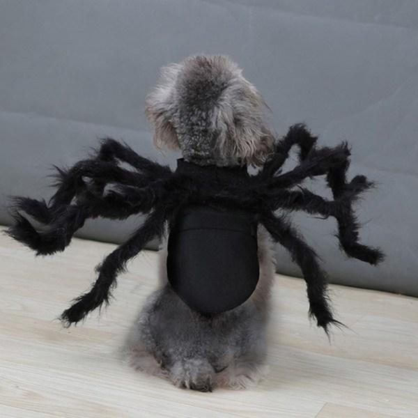 Halloween Pet Spider Clothes Puppy Plush Spider Cosplay Costume  M