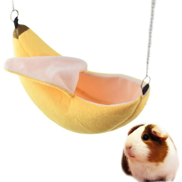Hamster cotton nest banana Shape House Hammock Bunk Bed House To Yellow
