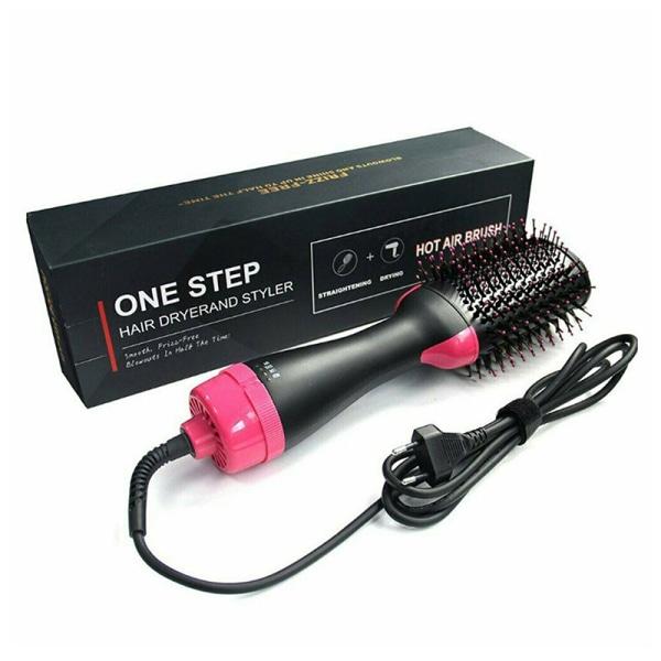 Hot Air Brush Ionic Hot Air Volume Brush fönbürste Easy All Hair Black