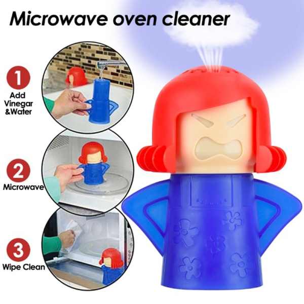 Kitchen Mama Microwave Cleaner Microwave Oven Steam Cleaner Appl Blue