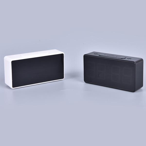 LED Digital Alarm Clock with USB Port Snooze Table Clock ABS El Black BK