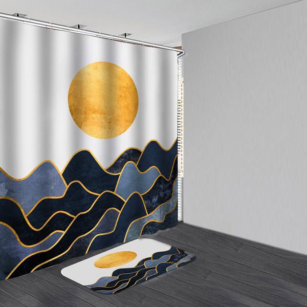 Över bergen Vattentätt badrum Duschdraperi Badmattor