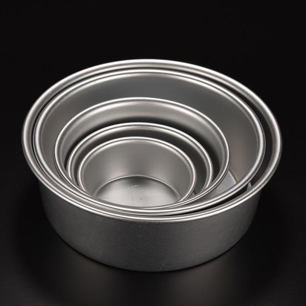 Rund Aluminium Bakning Tennform mögel för Sandwich Cake Kitc