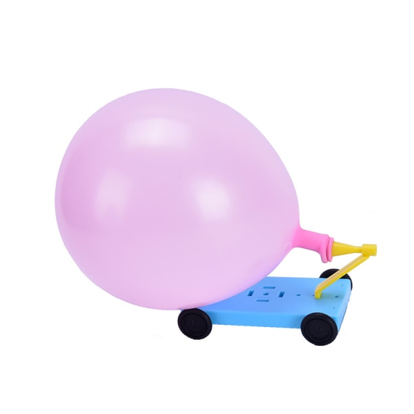 Science Physical Experiments Homemade Balloon Recoil Car DIY Ma