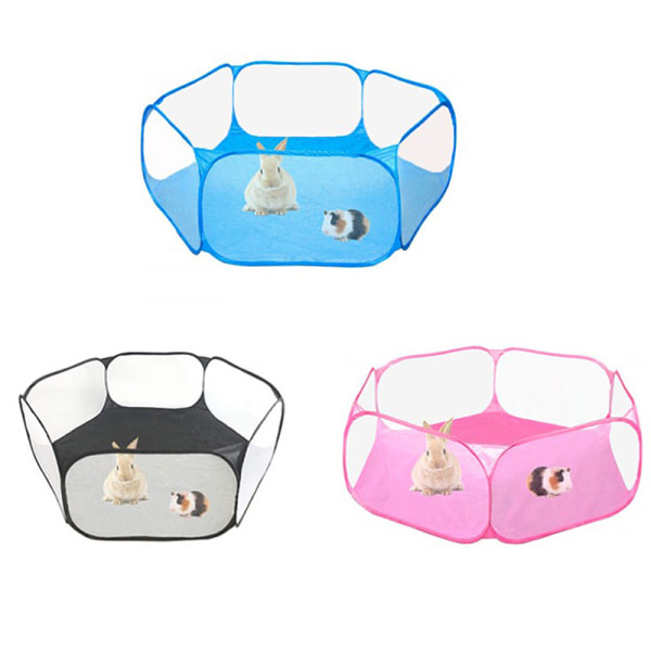 Small Animals Cage Tent Guinea Pig Rabbits Hamster Pet Playpen  Black