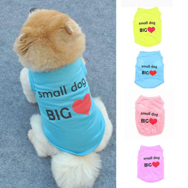 Small Dog Cat Vest Pet Cool Clothes Summer Polyester Vest Cool B Purple M