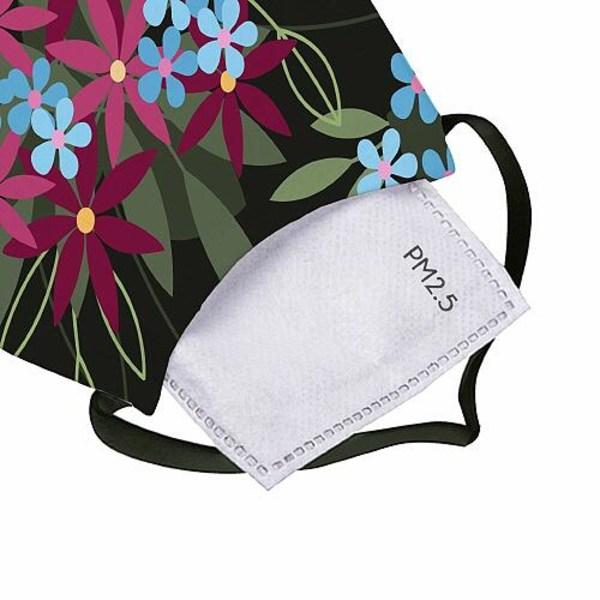 2-pack Munskydd, Tvättbar Skyddsmask med Filter - Flowerz