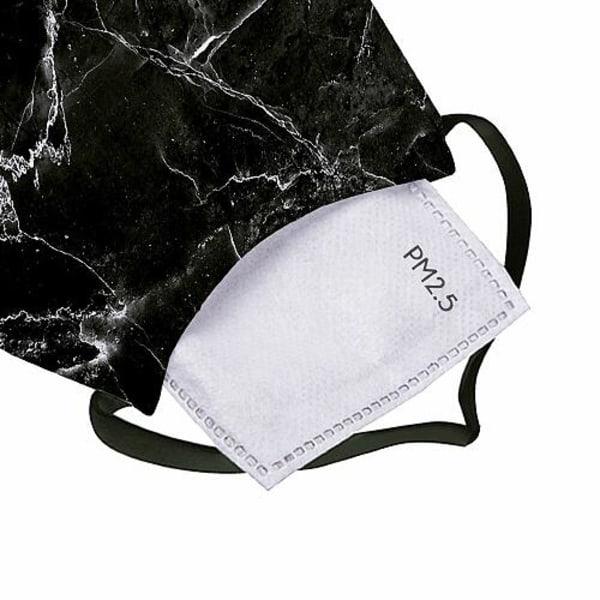 2-pack Munskydd, Tvättbar Skyddsmask med Filter - Opaque