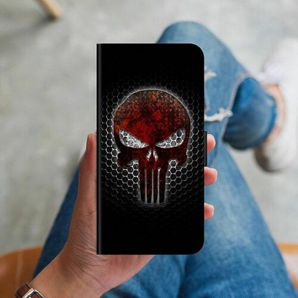 Huawei P40 Lite Plånboksskal Dödskalle