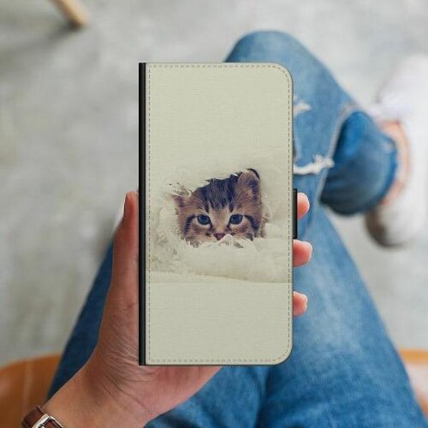 Huawei P40 Lite Plånboksskal Grumpy Cat