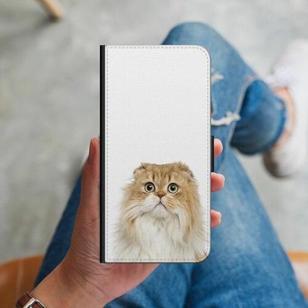 Huawei P40 Lite Plånboksskal PopUp Scared Cat