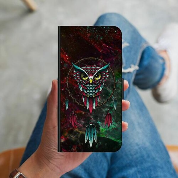 Huawei P40 Lite Plånboksskal Marmor Uggla