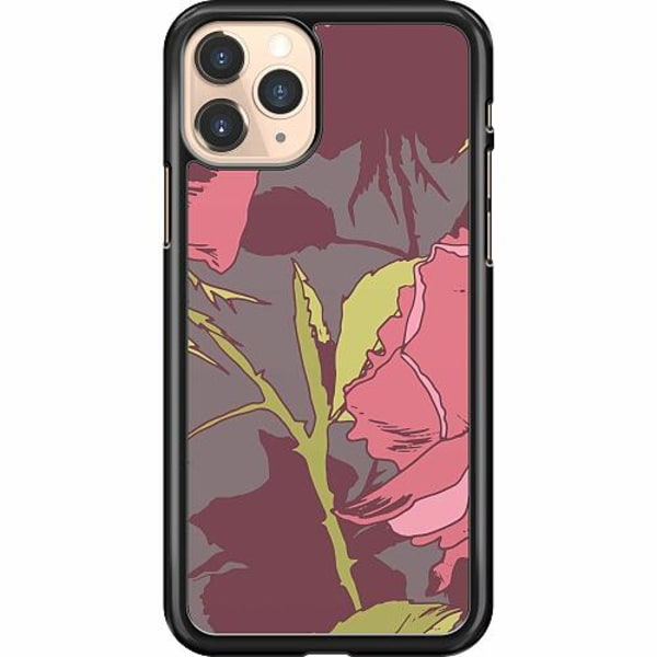 Apple iPhone 11 Pro Hard Case (Svart) Colour Me Roses