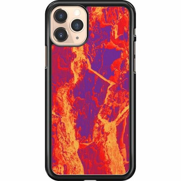 Apple iPhone 11 Pro Hard Case (Svart) Intense Lavalamp