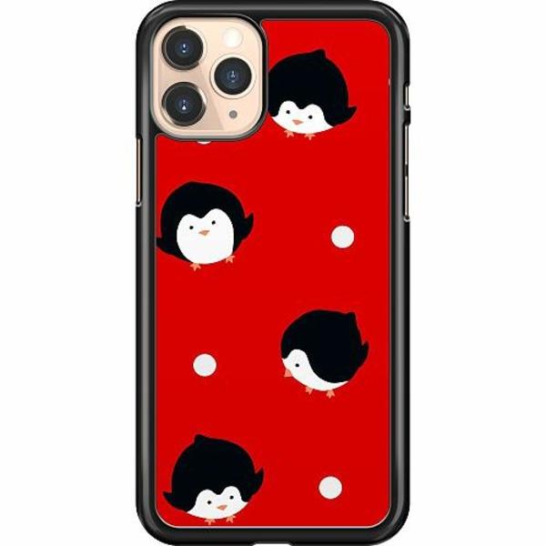 Apple iPhone 11 Pro Hard Case (Svart) Penguins On Christmas Eve