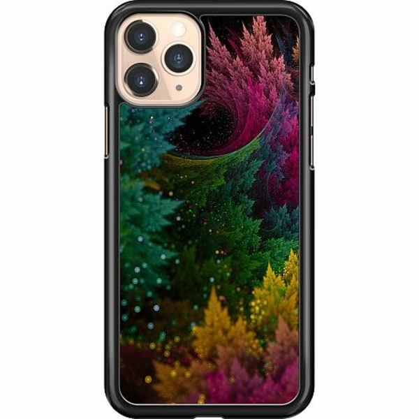 Apple iPhone 11 Pro Hard Case (Svart) Pixel Forest