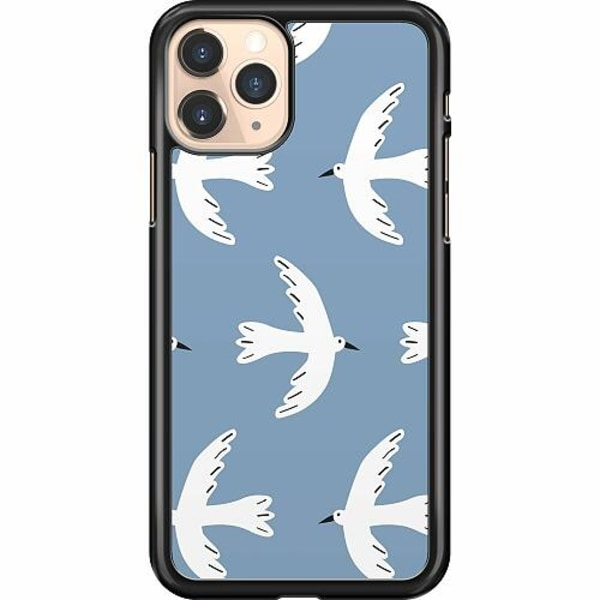 Apple iPhone 11 Pro Hard Case (Svart) White Pidgeon