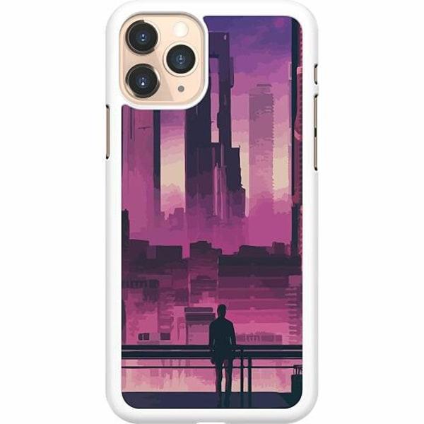 Apple iPhone 11 Pro Hard Case (Vit) Cyberpunk 2077