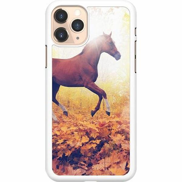 Apple iPhone 11 Pro Hard Case (Vit) Häst / Horse