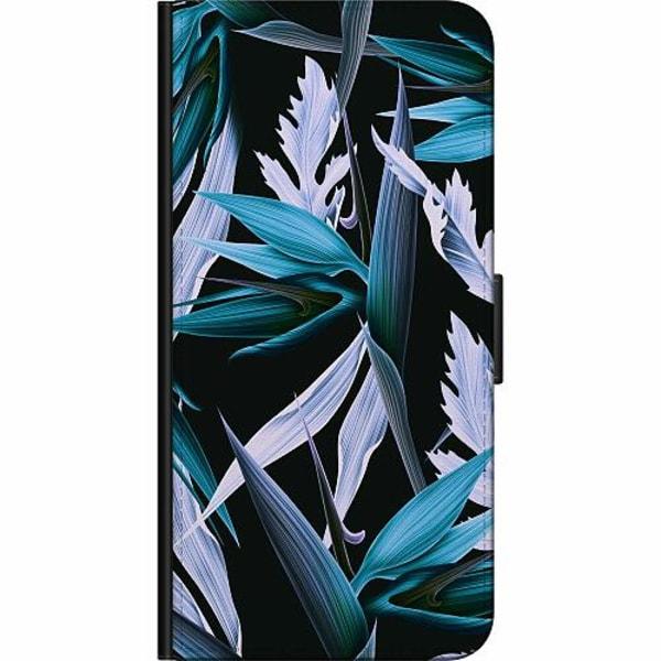 Huawei P40 Billigt Fodral Blue Flower