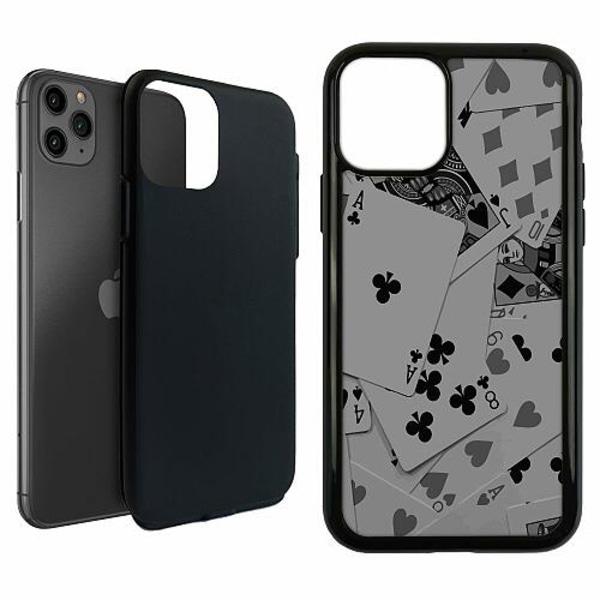 Apple iPhone 11 Pro Max Duo Case Svart Dark Cards