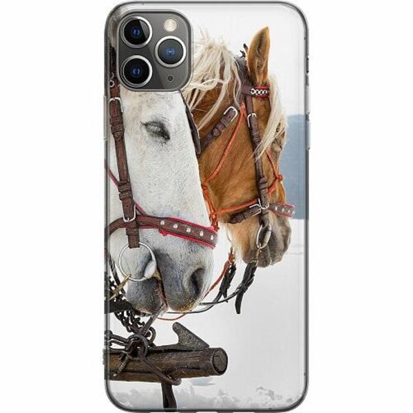 Apple iPhone 11 Pro Max Mjukt skal - Häst / Horse