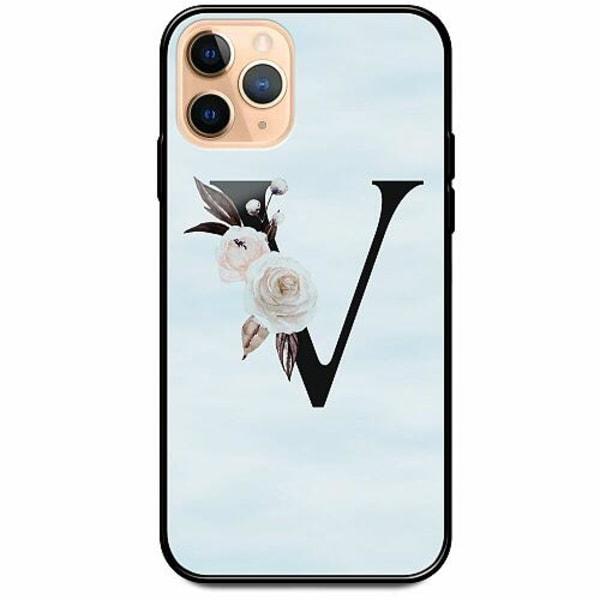 Apple iPhone 12 Pro Svart Mobilskal med Glas Bokstäver