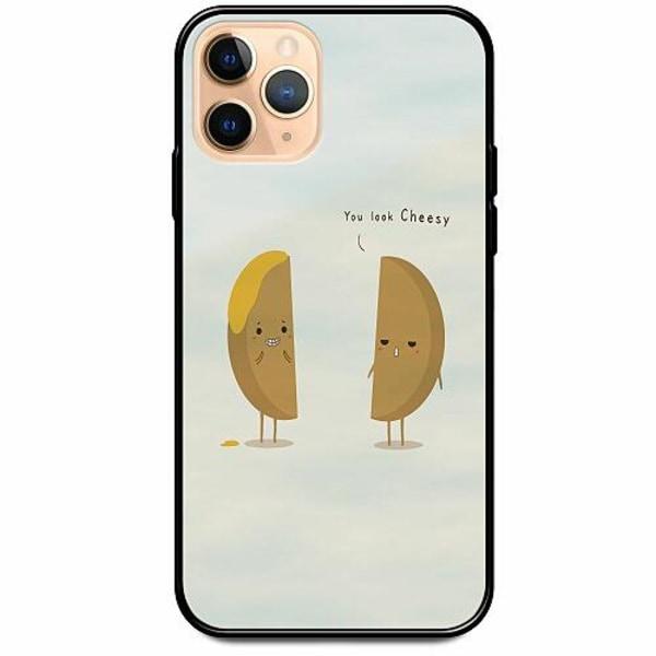 Apple iPhone 12 Pro Svart Mobilskal med Glas Cheesy