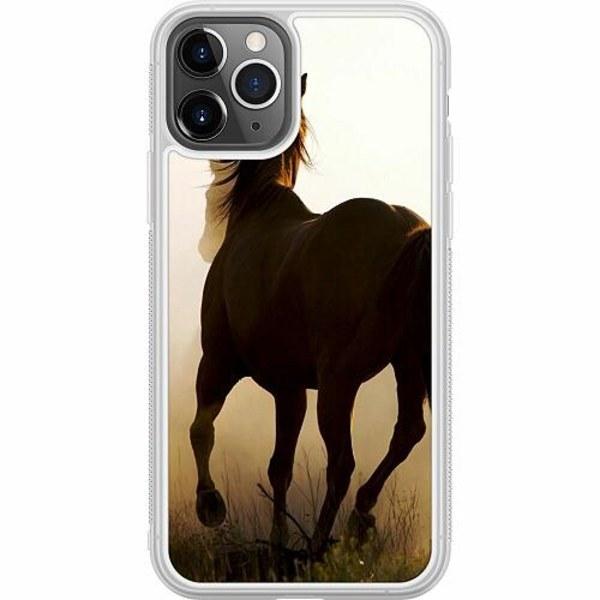 Apple iPhone 11 Pro Soft Case (Frostad) Häst / Horse