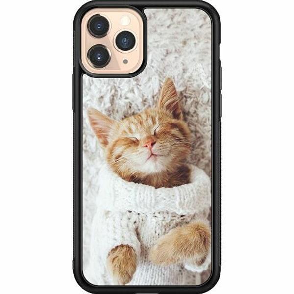 Apple iPhone 11 Pro Soft Case (Svart) Kitty Sweater