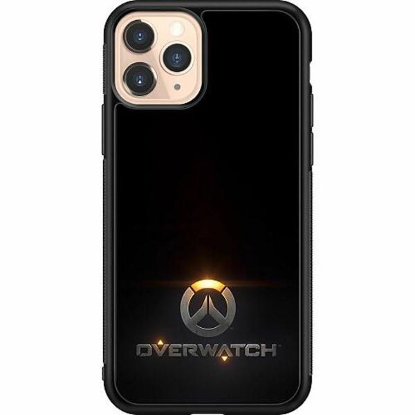 Apple iPhone 11 Pro Soft Case (Svart) Overwatch Logo