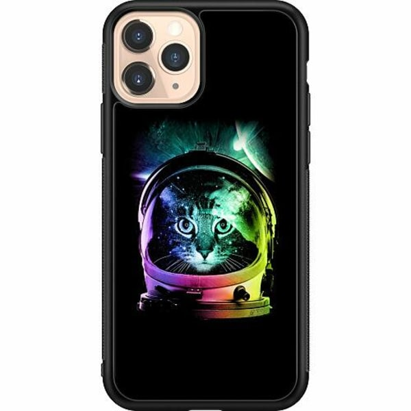 Apple iPhone 11 Pro Soft Case (Svart) Space Cat