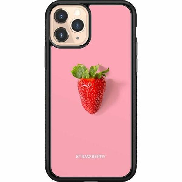 Apple iPhone 11 Pro Soft Case (Svart) Strawberry