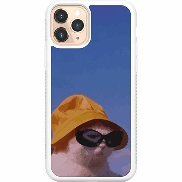 Apple iPhone 11 Pro Soft Case (Vit) Say What, Cat