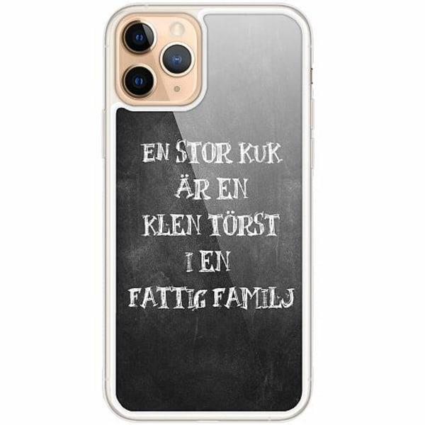 Apple iPhone 11 Pro Transparent Mobilskal med Glas Fattig Familj