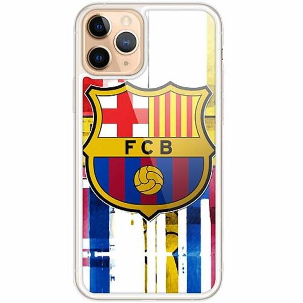 Apple iPhone 11 Pro Transparent Mobilskal med Glas FC Barcelona